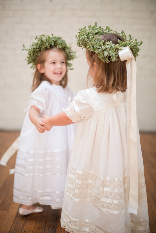 Dance And Movement Inspired Wedding. super cute cream flower girl dress  Heirloom Dresses by Strasburg Children 7a3e48005727