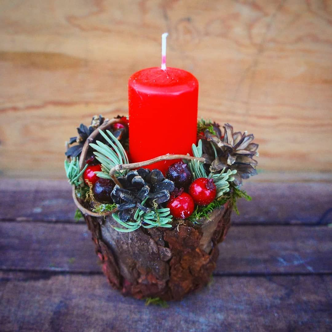 Новогодняя свеча или как называет её моя знакомая, ПЕНЁК ...