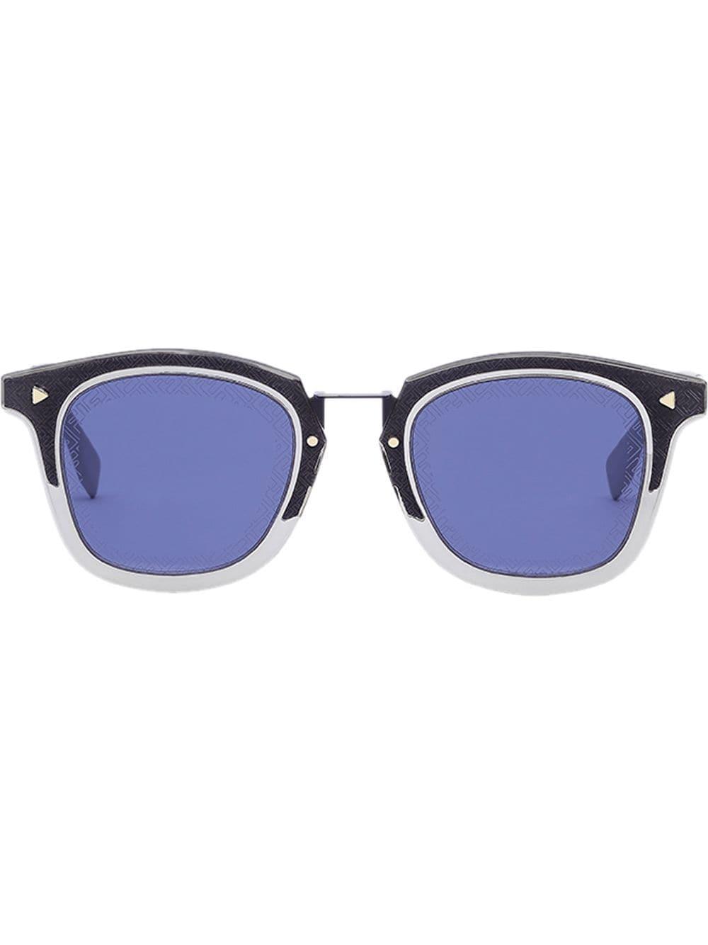 75c5f0b34 Fendi Eyewear FF square frame sunglasses - Gold in 2019 | Products ...