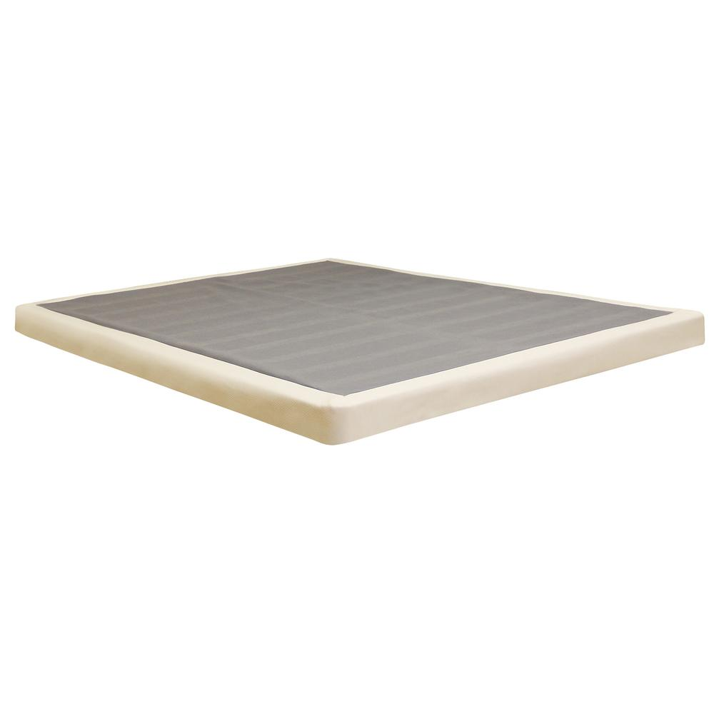 Instant Foundation Instant Foundation Twin Size 4 In H Low Profile Mattress Foundation 123001 5010 The Home Depot Mattress Foundations Mattress On Floor Box Spring