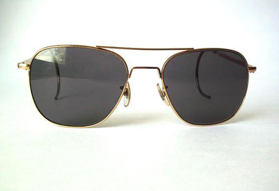 f7ade0d20c23 Vintage American Optical AO 6 1 2 Command Aviator Sunglasses