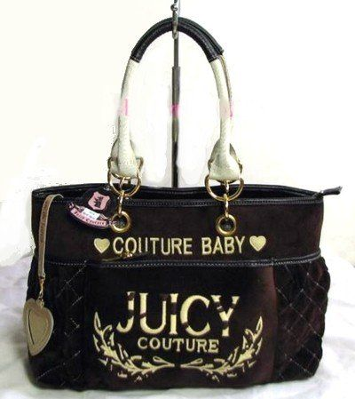 644e615765 Juicy Couture Diaper Bag Tote Brown....you know this will be part of my  daily wear  )