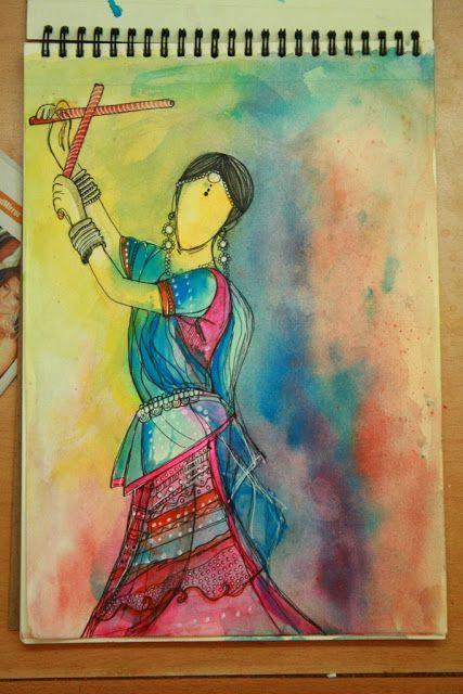 Illustration: Garba Girl