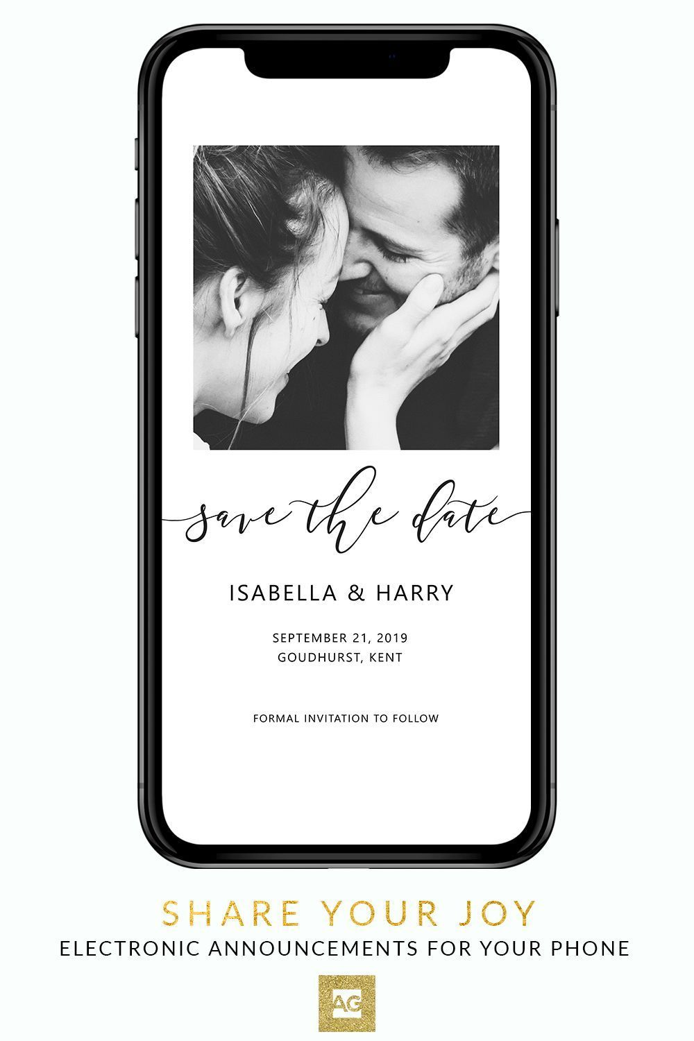 Electronic Save The Date Electronic Save The Date With Photo Add Your Ow Electronic Wedding Invitations Electronic Save The Date Digital Wedding Invitations