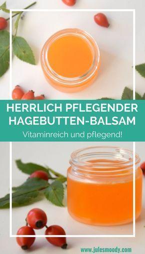 Wunderbar pflegender Hagebutten-Handbalsam für den Herbst!