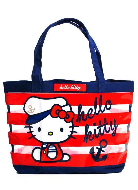 hello kitty sailor beach tote 32.20 AHOY KITTY !  a08bc5463424c