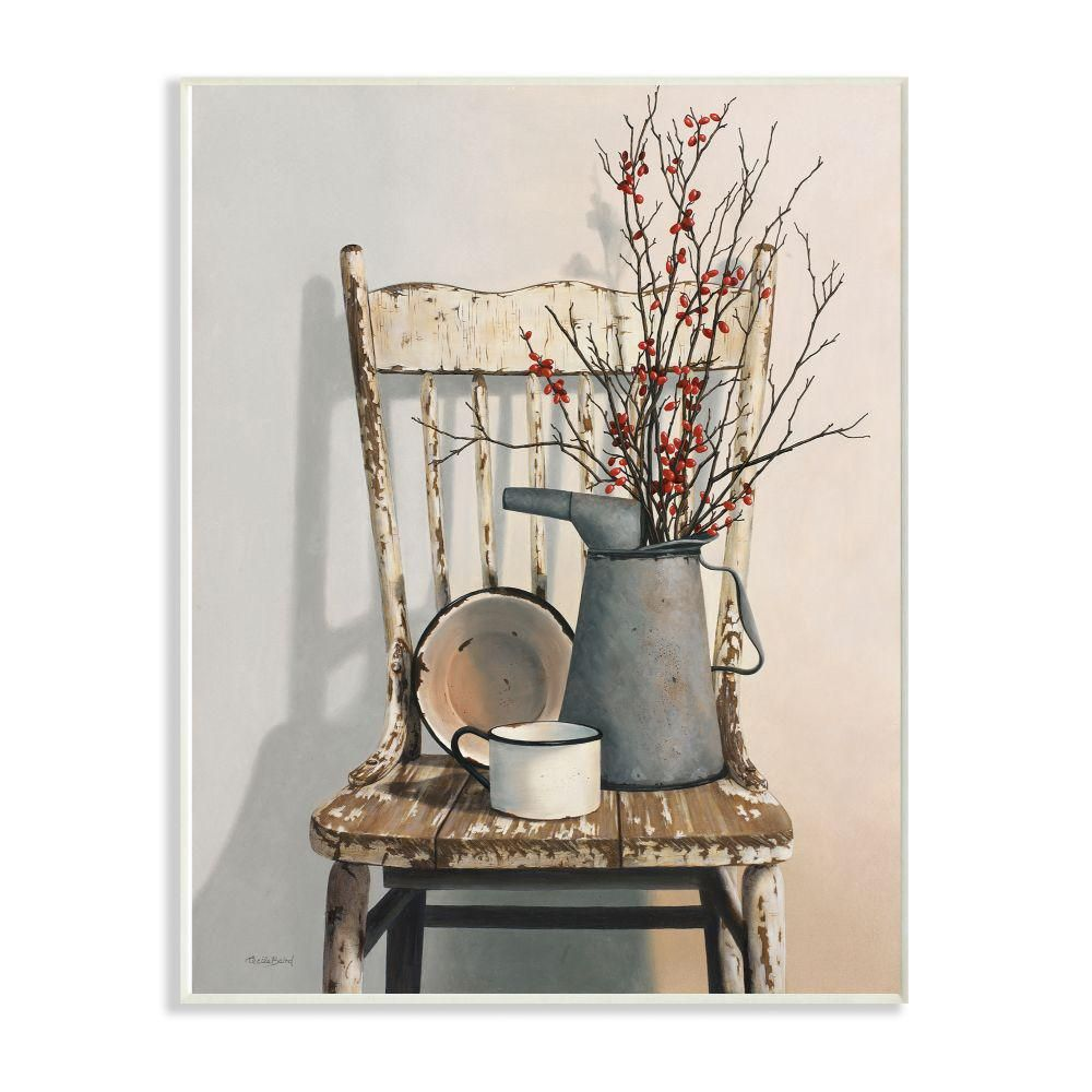 """Stupell Industries 10 in. x 15 in. """"Vintage Rustic Things Neutral Painting"""" by Cecile Baird Wood Wall Art-rwp-189_wd_10x15"""