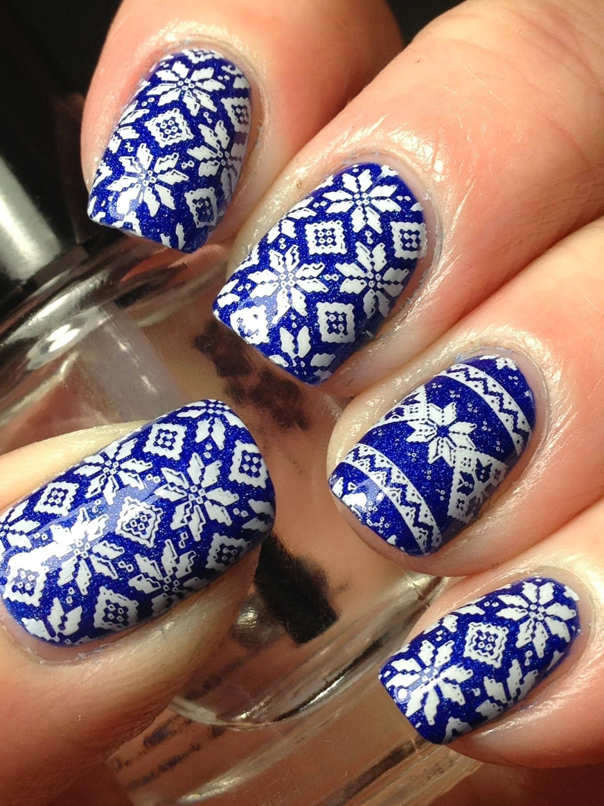 Blue Sweater Nails  Nails  Pinterest  Sweater nails