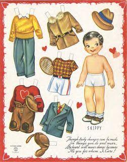 Bonecas de Papel: valentine