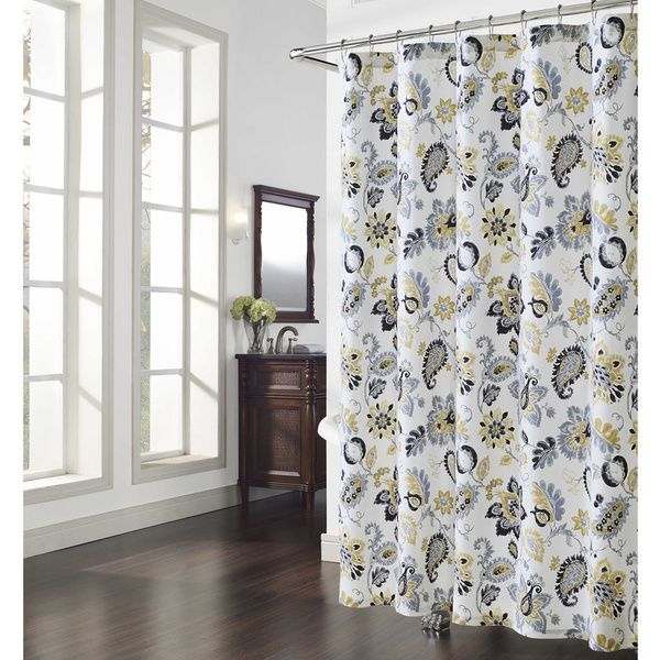 Bijoux Paisley Shower Curtain   Overstock™ Shopping   Great Deals On Shower  Curtains