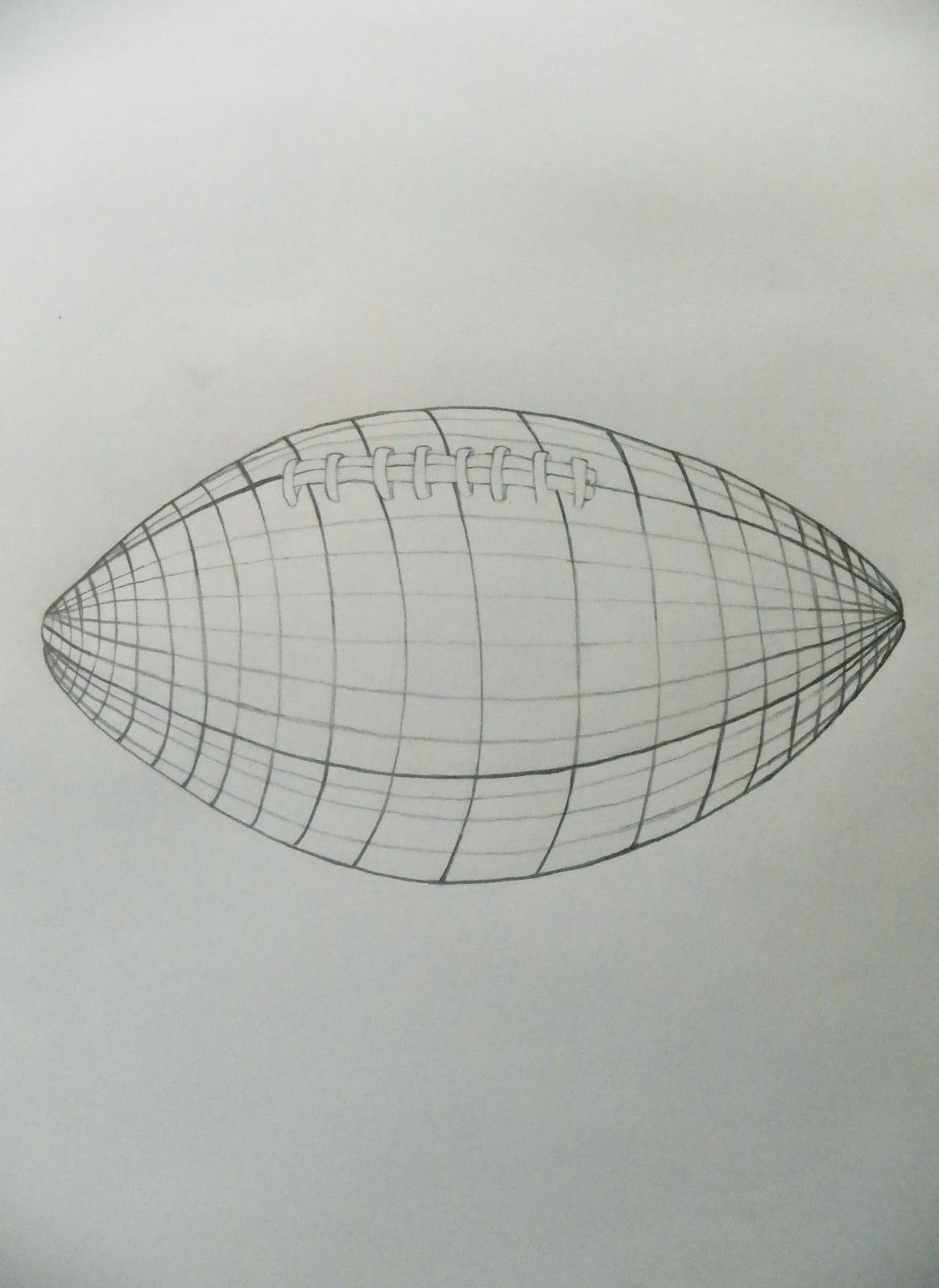 Football Contour Drawing