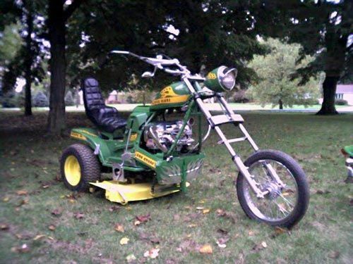 lawnchoppr - custom lawn mower - huskee garden tractor / suzuki