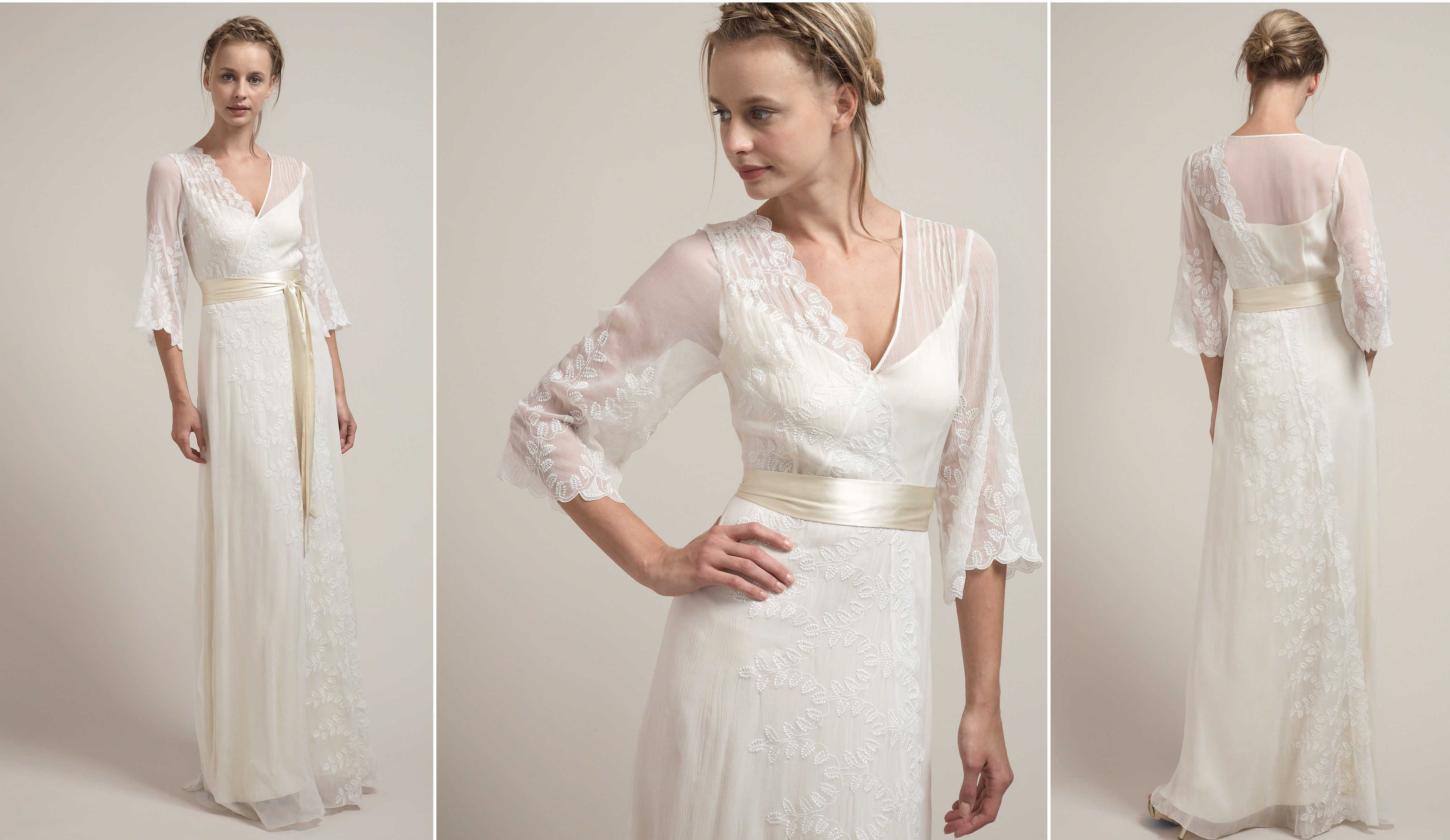 1940s style wedding dresses  Rustic Wedding Gowns By Saja  Rustic wedding gowns Vintage style