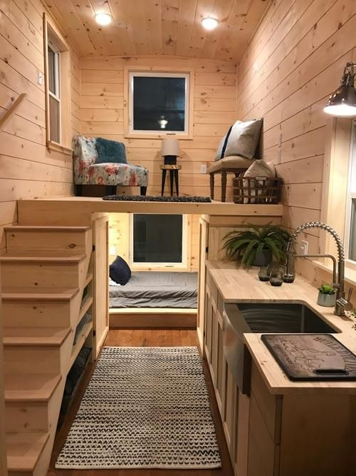 "Tiny House Plans Home: 22' ""Sweet Dream"" Reverse Loft Tiny House On Wheels By"