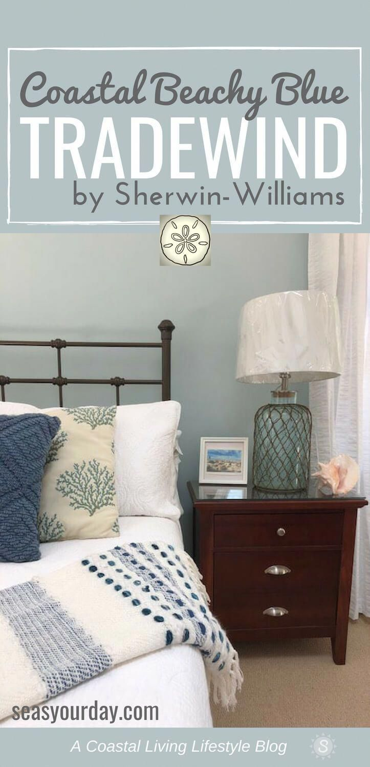 Sherwin-Williams Tradewind Paint Color #masterbedroompaintcolors