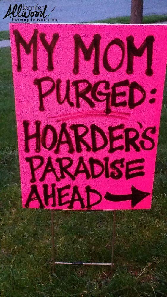 garage sale sign ideas