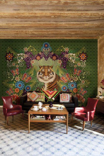 Eclectic Living Room By Catalina Estrada