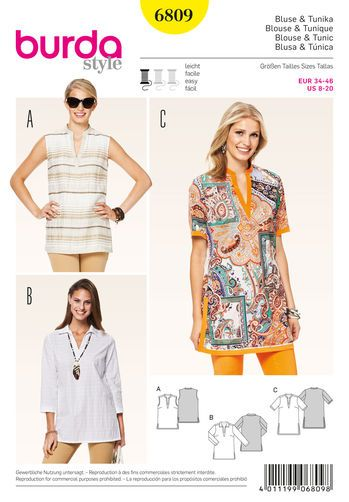 Burda Style Tops, Shirts, Blouses | clothes | Pinterest | Sewing ...