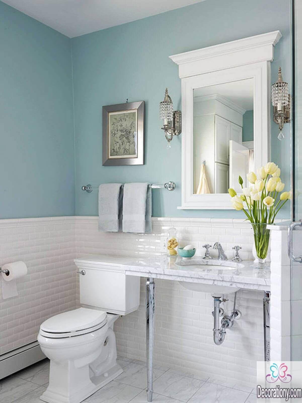 15+ Small White Beautiful Bathroom Remodel Ideas   Small bathroom ...
