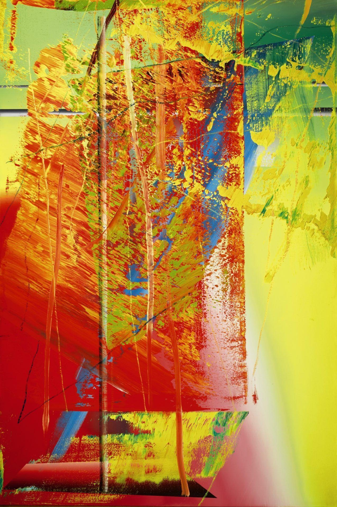 gerhard richter abstraktes bild 1986 courtesy of sotheby s abstract famous artists abstrakte bilder blau bunte