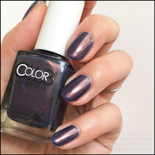 New Nail Polish Colors 2016: COLOR CLUB MIDNIGHT MUSE COLLECTION SWATCHES & REVIEW FALL