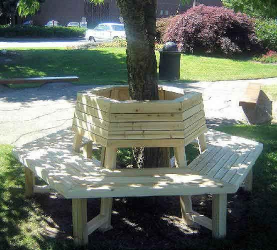 Tree Bench IDEAS Pinterest Jardinería, Tapizado y Carpintería - como hacer bancas de madera para jardin