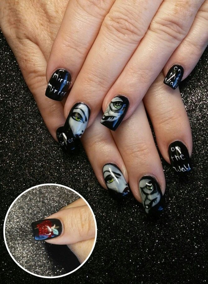 Disney evil queen nail art | Disney nails nail art | Pinterest ...