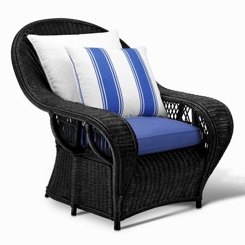 Conservatory Garden Wicker Lounge Chair Black Wicker Chairs Ottomans Furniture Products Ralph Furniture Wicker Lounge Chair White Wicker Furniture