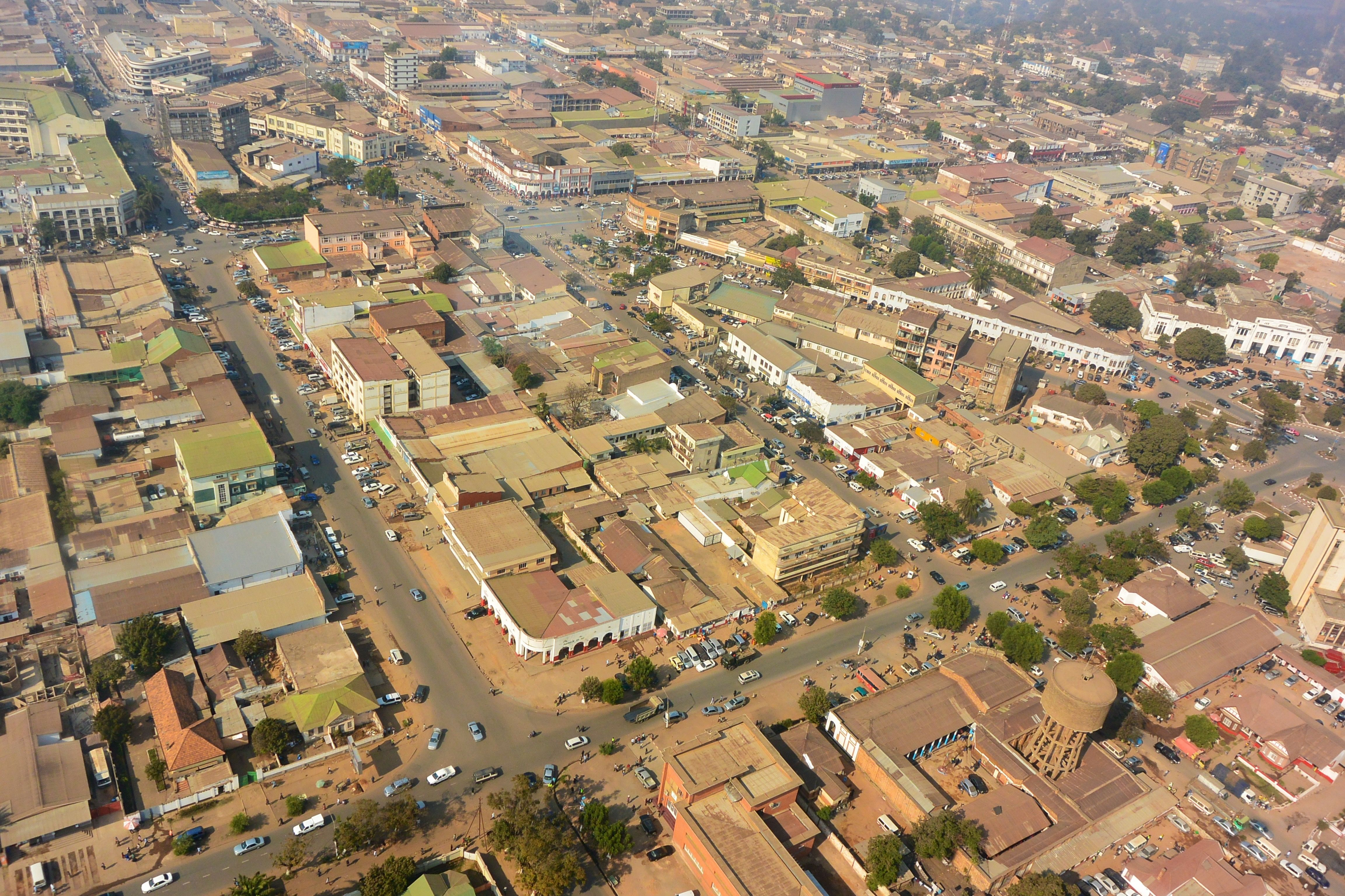 Aerial View Of The City Center Of Lubumbashi