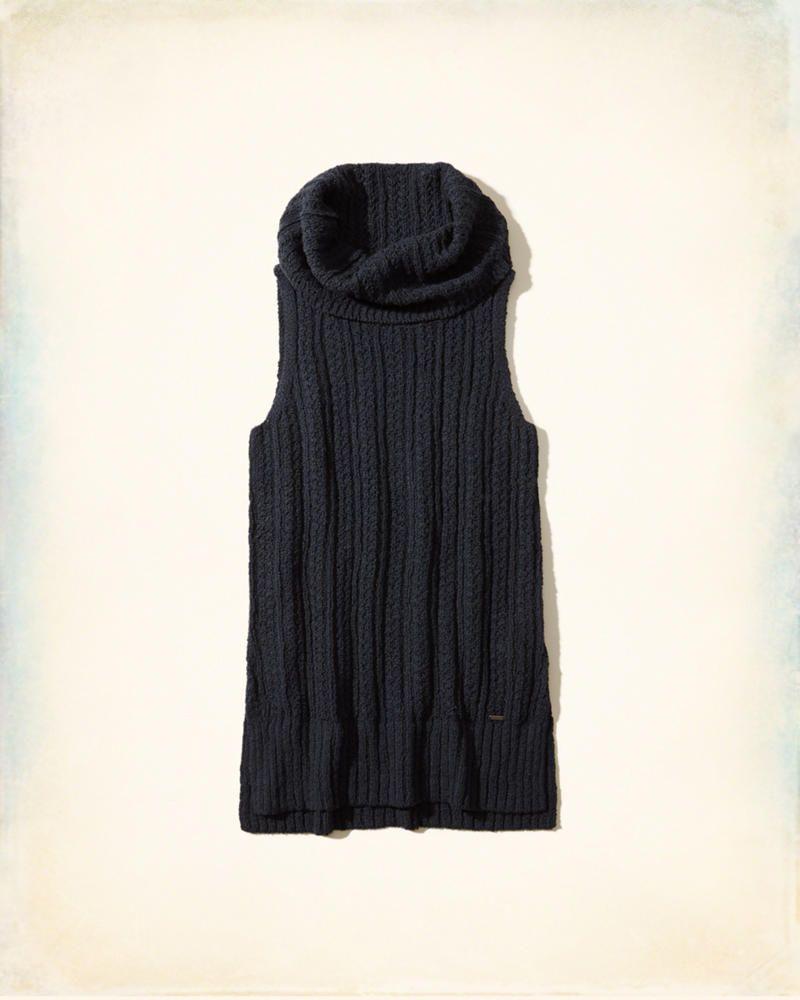3dad828cbb47 Hollister Co. Sleeveless Cowl Neck Tunic Sweater in Navy  hcopartner   hcostylescene