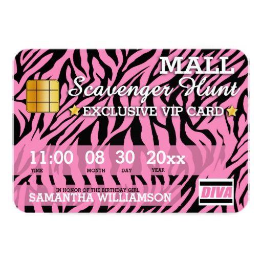 Credit card mall scavenger hunt birthday italias 8 th birthday credit card mall scavenger hunt birthday filmwisefo