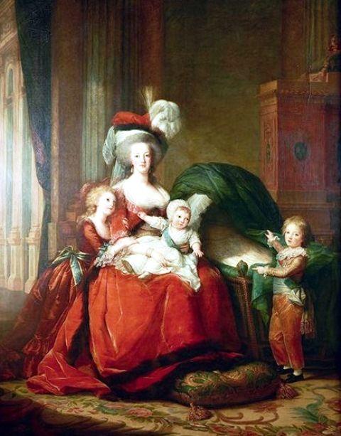 Elisabeth Vigée Le Brun – Marie-Antoinette de Lorraine-Habsbourg, reine de France et ses enfants, 1787