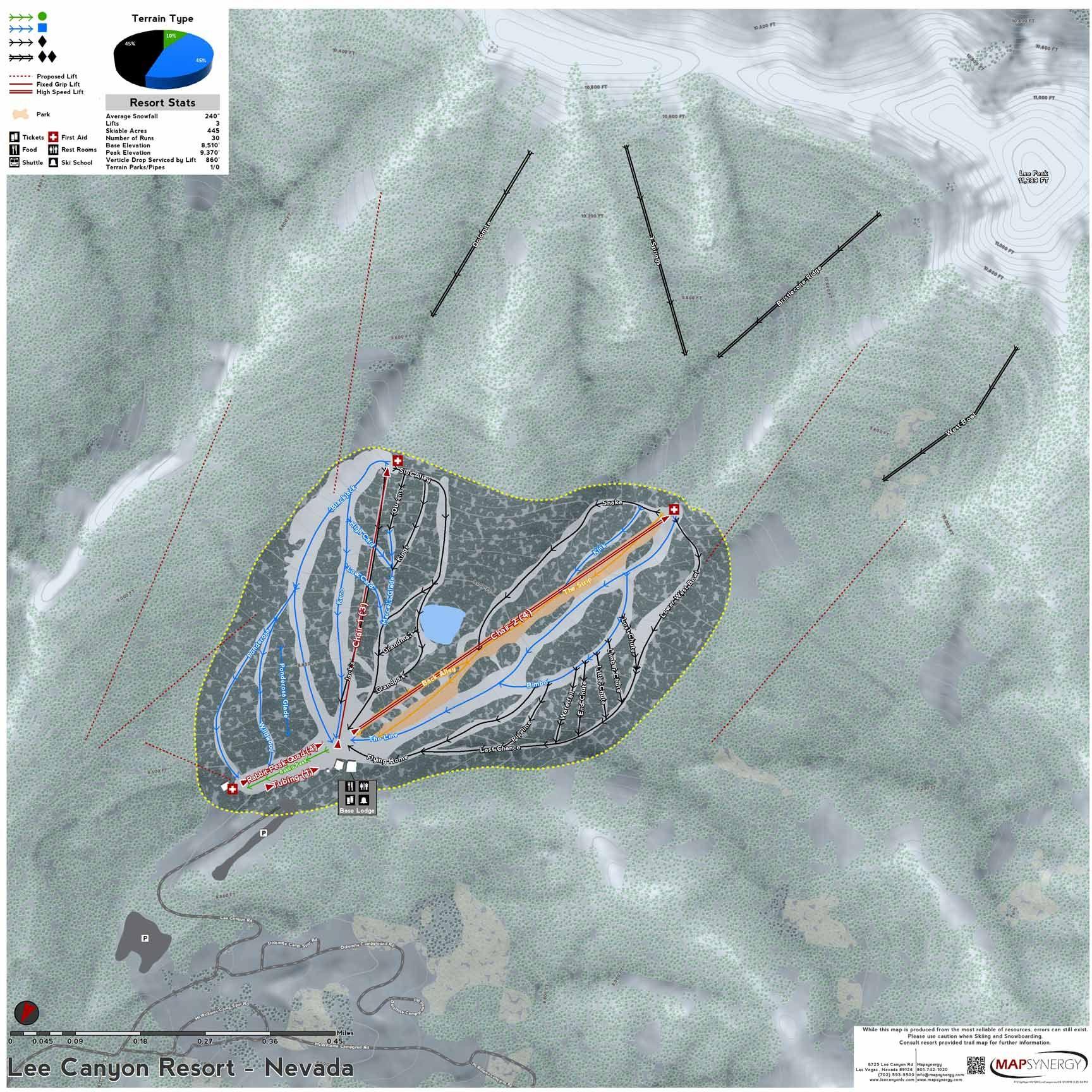 Worksheet. Lee Canyon Resort ski map  Nevada Ski Resort Maps  Pinterest