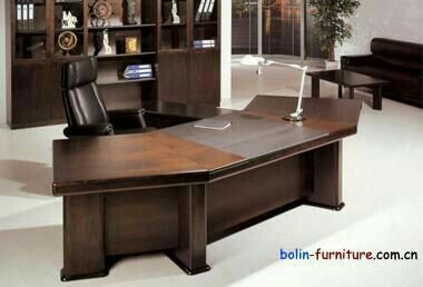 Casa padrino bureau de luxe en bois de rose avec tiroirs marron