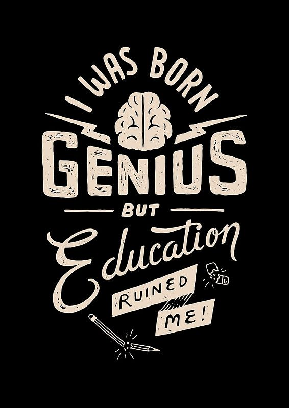 Cahier à spirale 'Genius né' par skitchism