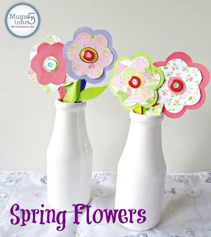 Kids Craft Ideas For Spring Part - 45: Flower Crafts · SpringPaper Flowers Craft Kids Craft Ideas Spring Craft