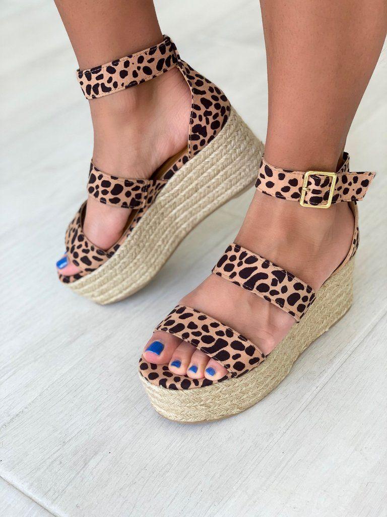 Chunky Cheetah Platform Sandal