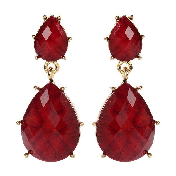 Amrita Singh Ruby Hampton Bay Drop Earrings ($7.99) ❤ liked on Polyvore featuring jewelry, earrings, amrita singh jewelry, ruby drop earrings, ruby jewelry, amrita singh earrings and drop earrings