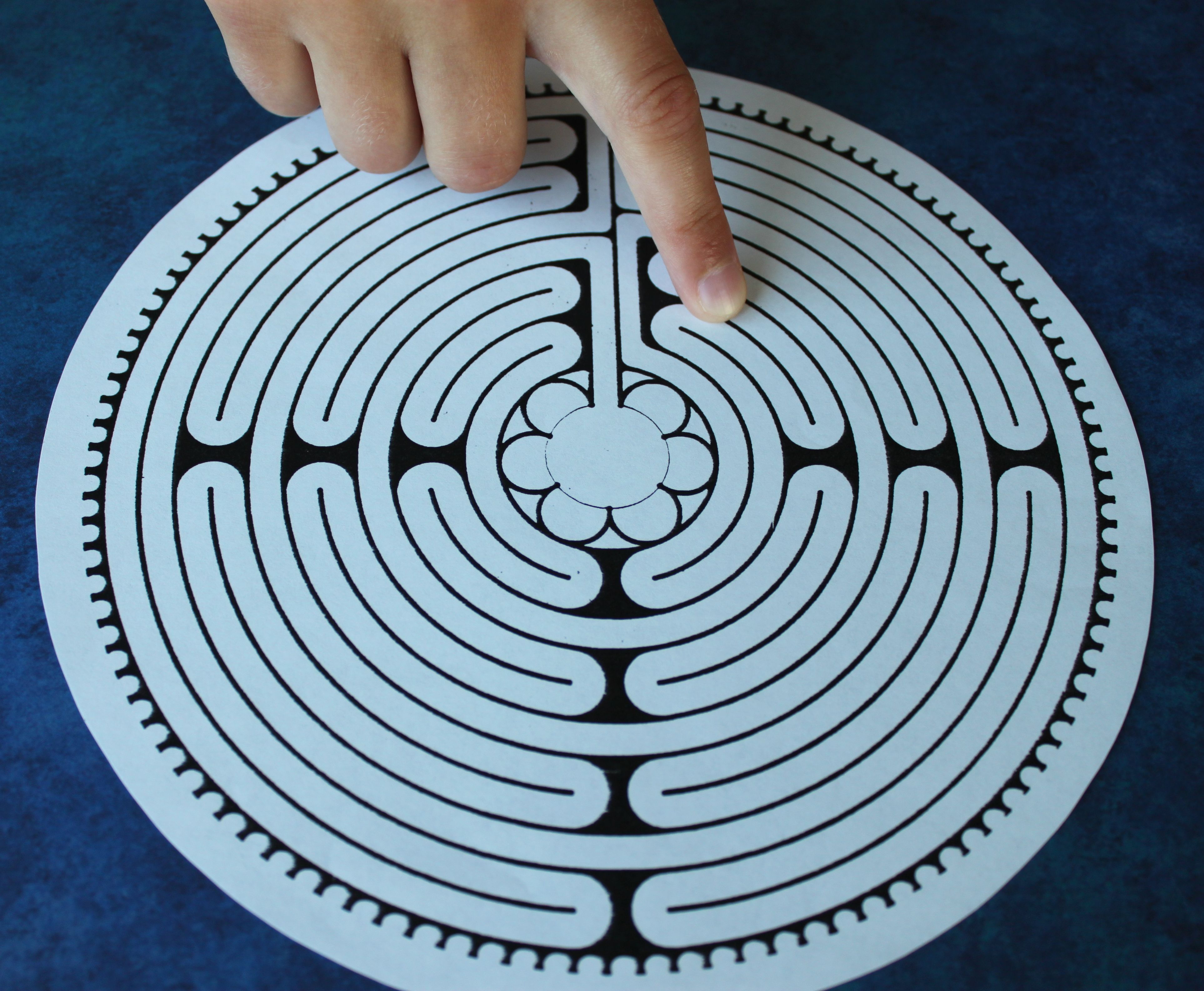 Art Therpay Directives Using Finger Labyrinths
