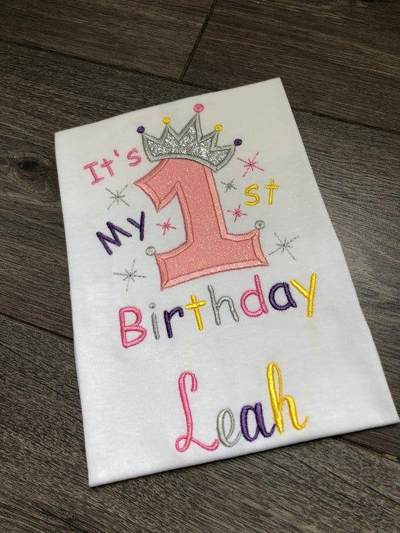 Photo of 1st birthday t-shirt – girls first birthday t-shirt – photo shoot – cake smash – personalised 1st bi