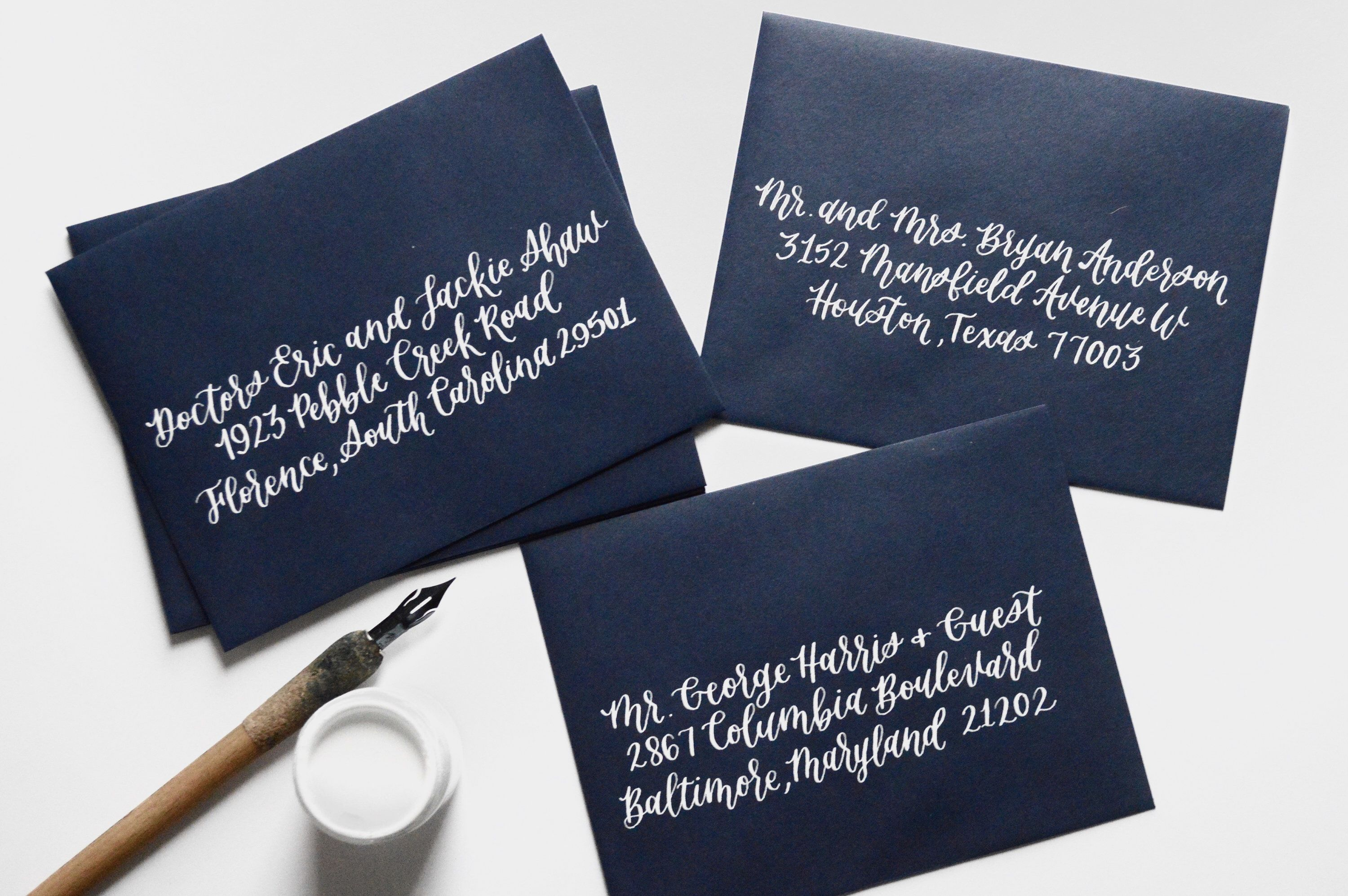 Pin by ALL THINGS LU on Envelope Calligraphy Hand