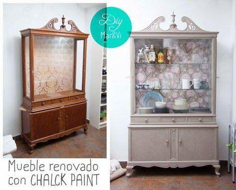 Ideas DIY Mueble reciclado con Chalk Paint muebles Pinterest - muebles diy