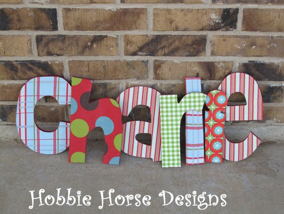 handmade wooden letters   country   Pinterest   Letras, Nombres y ...