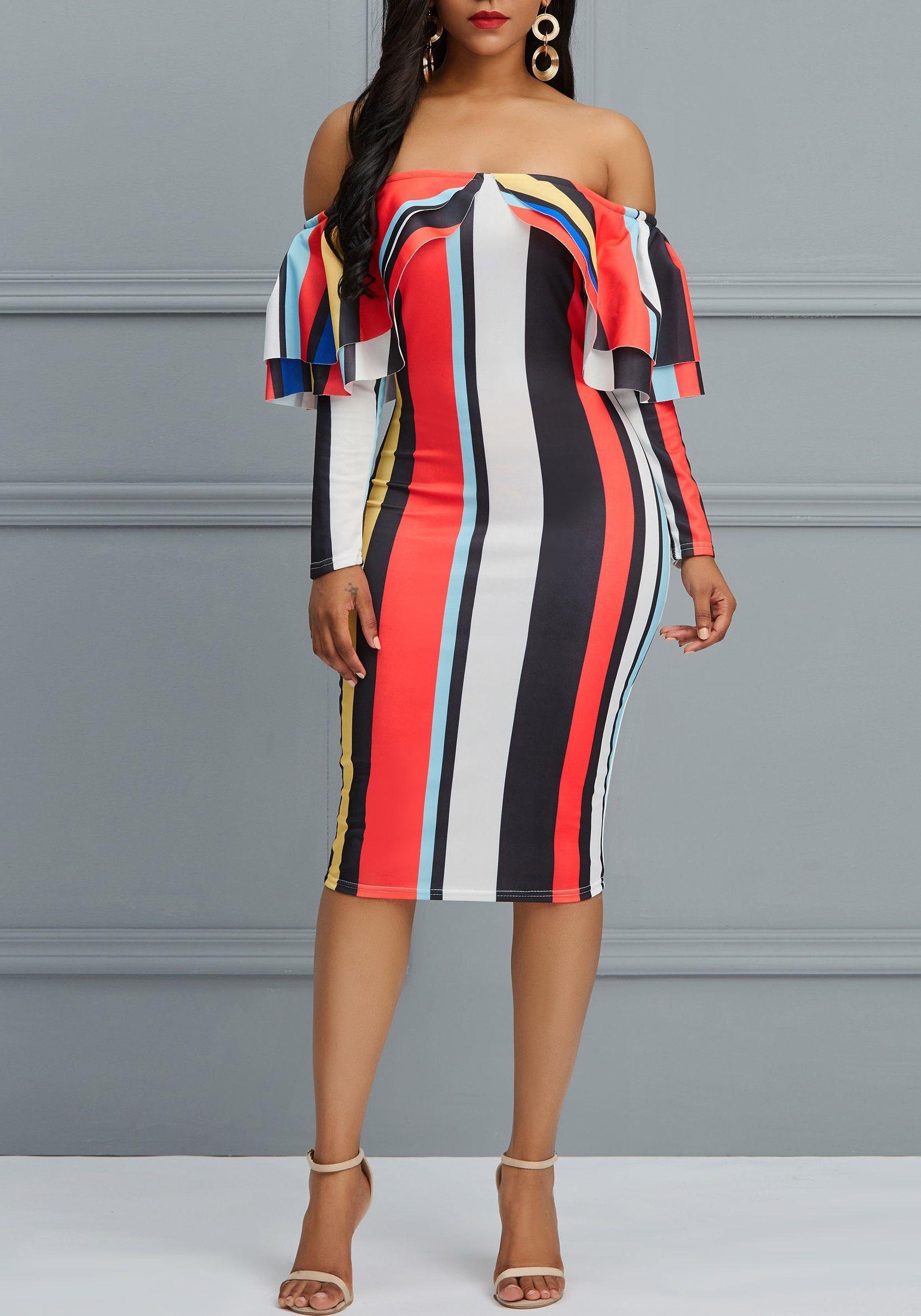 f34e57f58aa4 Falbala Backless Single Women's Bodycon Dress | Shoespie Dresses ...