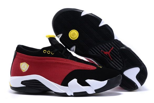 best sneakers 515f1 c9090 Men s Air Jordan 14 Shoes Red black yellow white -  74982 -  79    playjordans.com