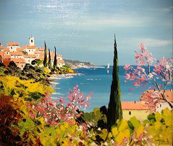 Peintre Provence Peinture Provence Villages Provencaux Lavande