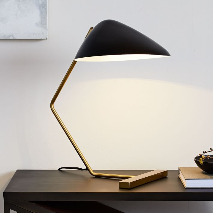 Curvilinear Mid-Century Table Lamp