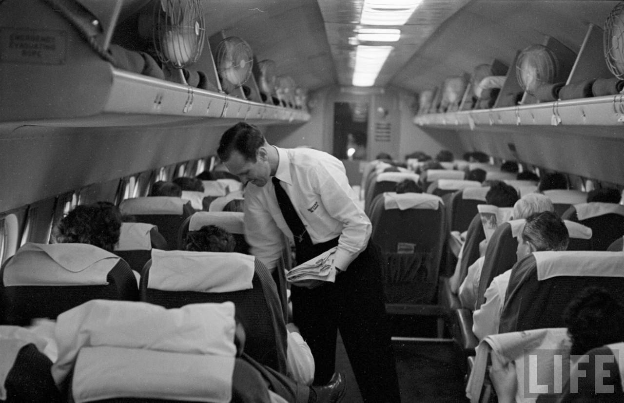 Eastern Air Lines , 1949 Lockheed Constellation cabin ...