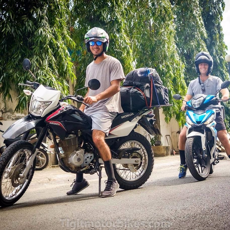 Alec And Bryce From The Usa Off To Danang On Tigit Honda Xr150 And