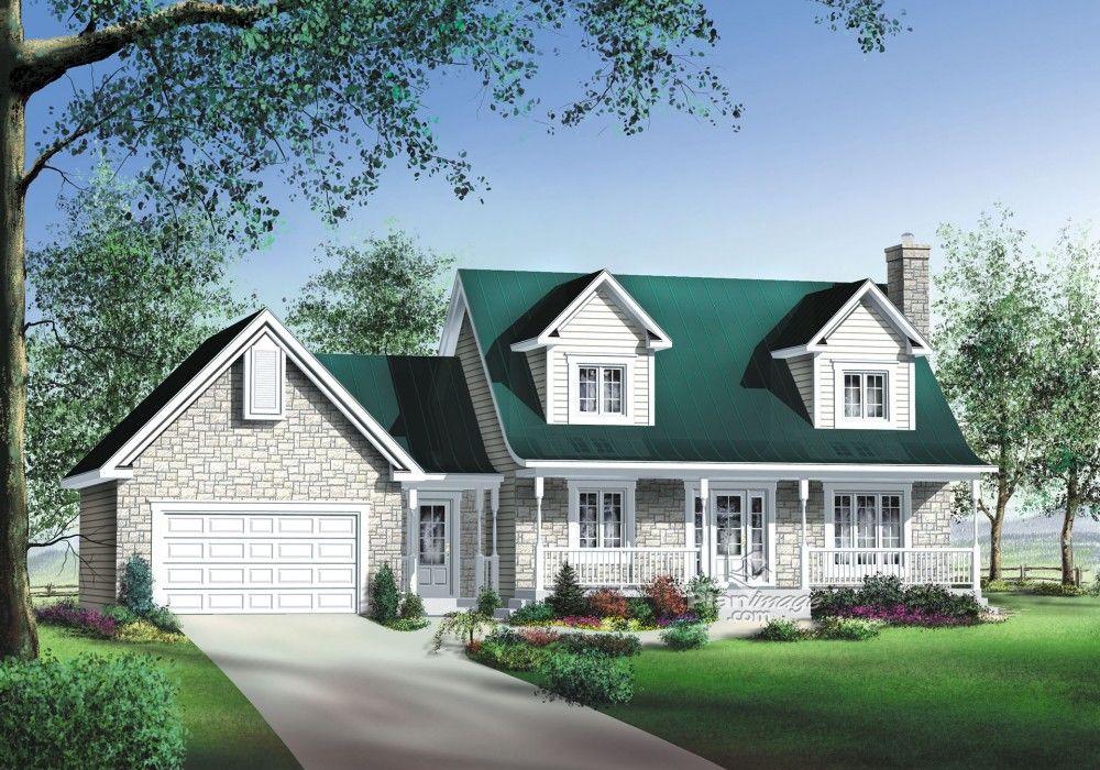 Plan de Maison unifamiliale W3867-V1, Description du plan Rez-de